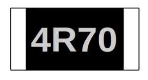チップ抵抗 印字例